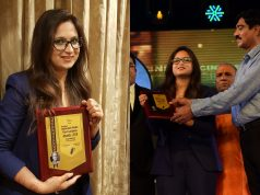 Swati Mehrotra was awarded as the Best Footwear Designer at 16th DadaSaheb Phalke Film Foundation Awards